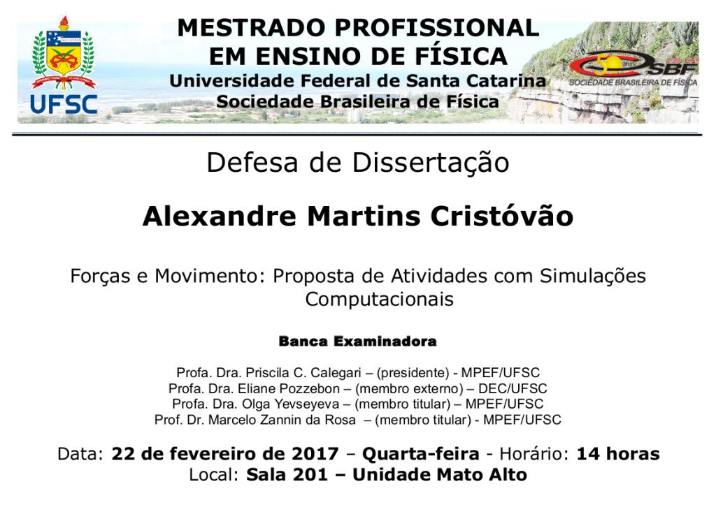 Cartaz defesa de Alexandre M. Cristovao